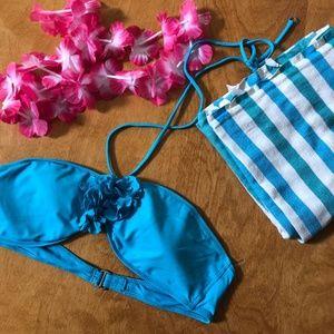 EUC Gilly Hicks Bright Blue Bikini Top Sz L 🌊☀️⛱